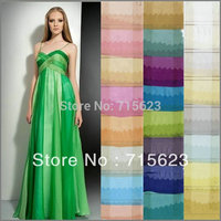 79 Color Wholesale Mulberry Silk Chiffon Fabric Material For Silk Dress Skirt Scarf Mix Colors 6M