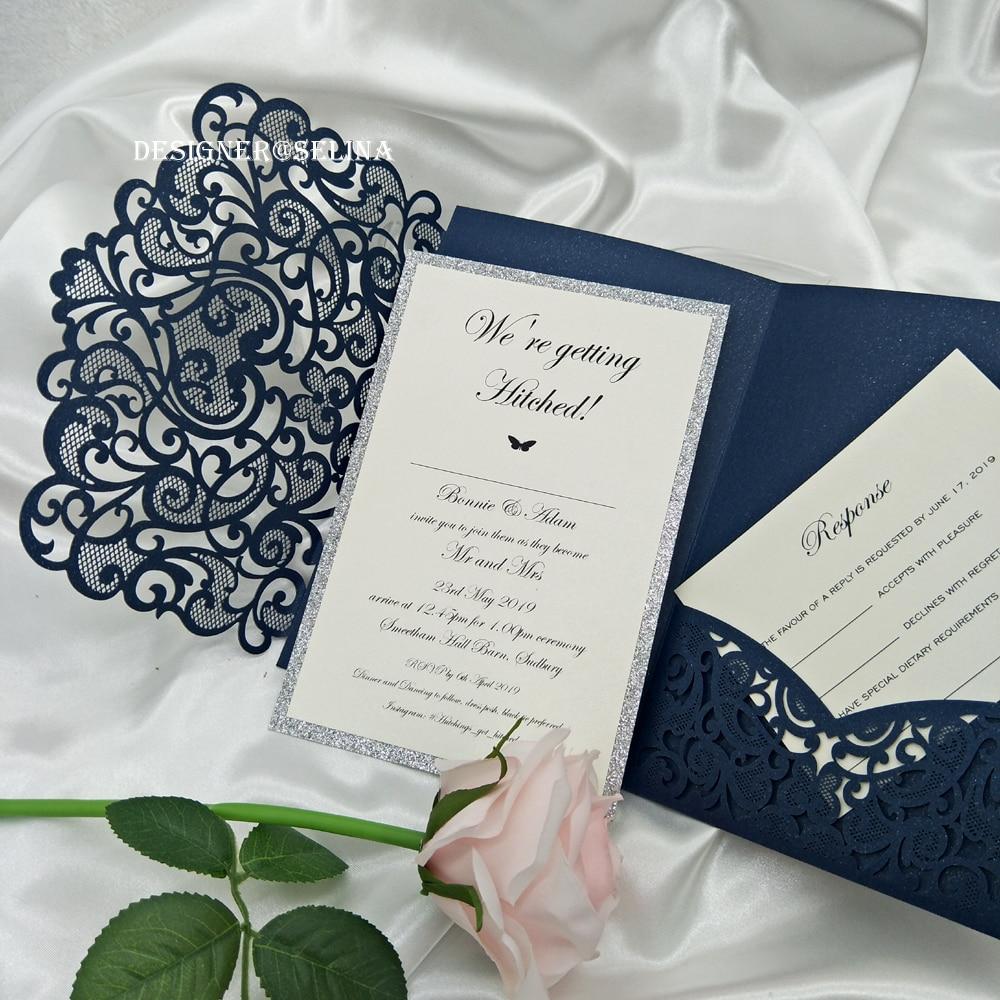 Wedding Invitations Cover: Sweetheart Laser Cut Trifold Wedding Invitations Card