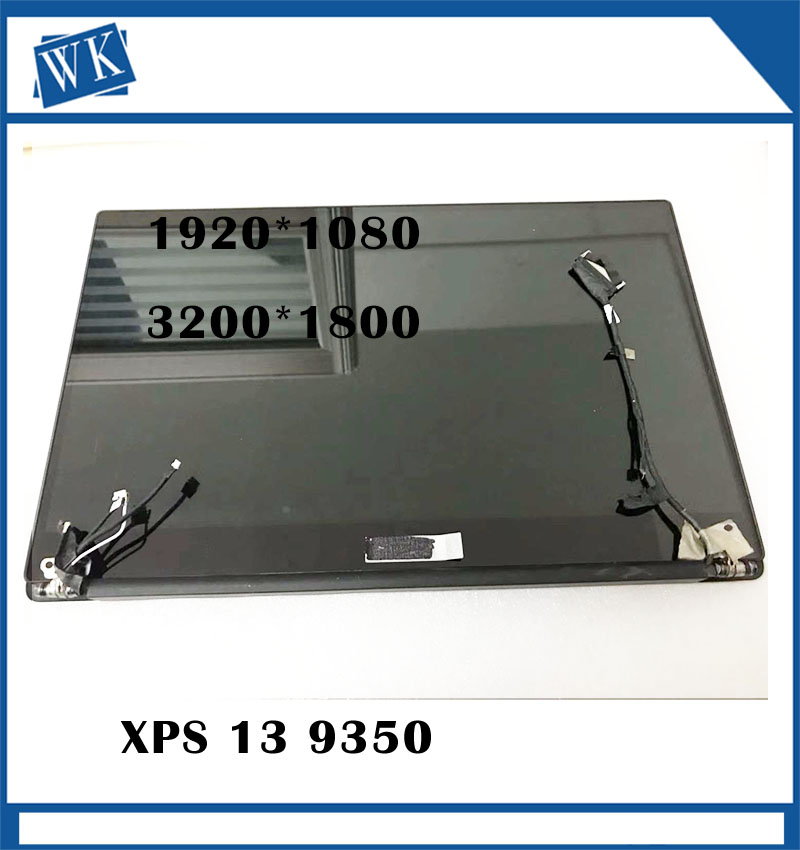 Original 13.3'For Dell XPS 13 9350 P54G Assembly FHD Non Touch and touch  LCD Screen Digitizer 3200*1800 and 1920*1080