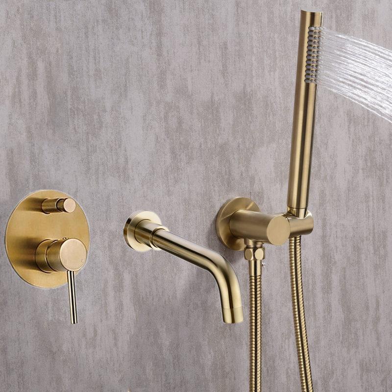 Набор для душа с креплением для ванны, смеситель с клапаном, 2 функции, ванна, наполнитель, смеситель, краны для горячей и холодной ванной ком...