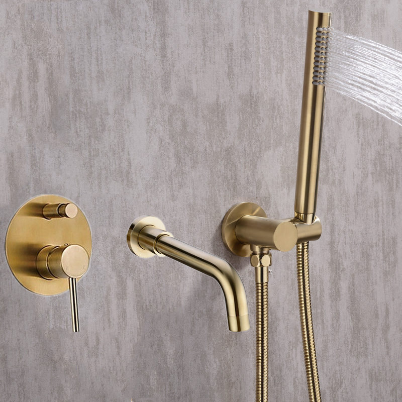 Bathtub Mount Shower set Mixer Valve 2 Function Bathtub Filler Mixer Taps Hot & Cold Bathroom Shower Faucet Bath Spout Shower Bathtub Mount Shower set Mixer Valve 2 Function Bathtub Filler Mixer Taps Hot & Cold Bathroom Shower Faucet Bath Spout Shower