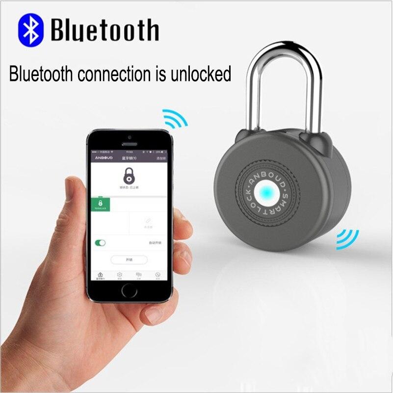 Cadenas intelligent Bluetooth Types de clés principales nouveau Design contrôle sans fil Nathlock cadenas intelligent Bluetooth serrure avec IOS/Android APP