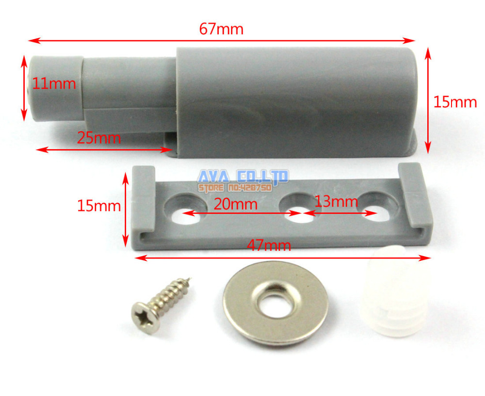 10PCS Magnet Push To Open System For Kitchen Cabinet Door D&er Buffer Closer Door Catch Without Handle-in Kitchen Cabinet Parts u0026 Accessories from Home ...  sc 1 st  AliExpress.com & 10PCS Magnet Push To Open System For Kitchen Cabinet Door Damper ...