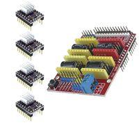 Free Shipping! New cnc Shield V3 Engraving Machine / 3D Printer / + 4pcs DRV8825 Driver Expansion Board for arduino DIY KIT