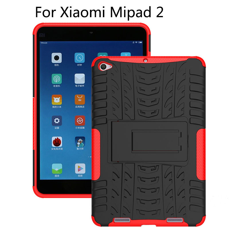 Hybrid TPU+PC Case For Xiaomi Mipad 2 Cover For MiPad 3 7.9 Mipad3 mipad2 Tablet Tablet Dazzle Shockproof KickStand Stand Shell