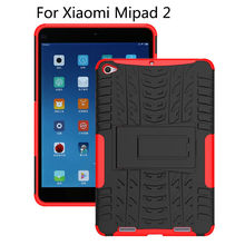 "Híbrido tpu + pc case para xiaomi mipad 2 cubierta para mipad 3 7.9 ""Mipad3 mipad2 Tablet Tablet Dazzle Pata de Cabra Soporte A Prueba de Golpes Shell"