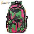Guapabien Women Men Colorful Bags Fashion Nylon Unisex Travel Backpack Camouflage Print Waterproof Book Girl School Rusksacks
