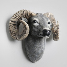 Milu, Elk Wall decoration Hanging Wall Animal Head Resin Pendant Resin Wall Ornaments Home Accessories, Best Gift