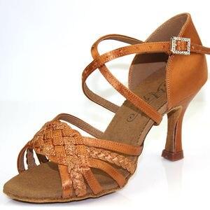 Image 2 - סניקרס למבוגרים מקצועי נעלי ריקוד מסיבת סלוניים גבירותיי אירובי נעלי ריקוד חום BD 2360 B קופון חם כיכר ריקוד