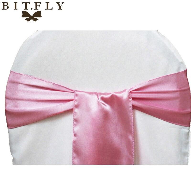 bit fly housse de chaise de mariage 100 pieces lot ceinture a nœud decoration de fete d hotel tissu satin de haute qualite