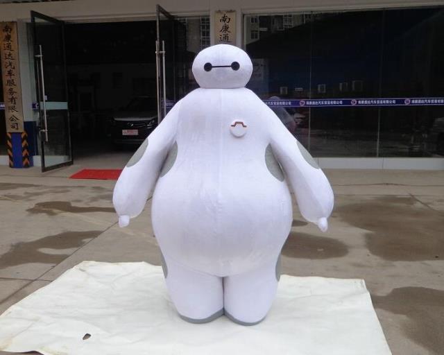 100% images réelles Costume Big Hero 6 Baymax Costume De Mascotte de Bande Dessinée Adulte Taille Big Hero mascotte EMS Livraison Gratuite
