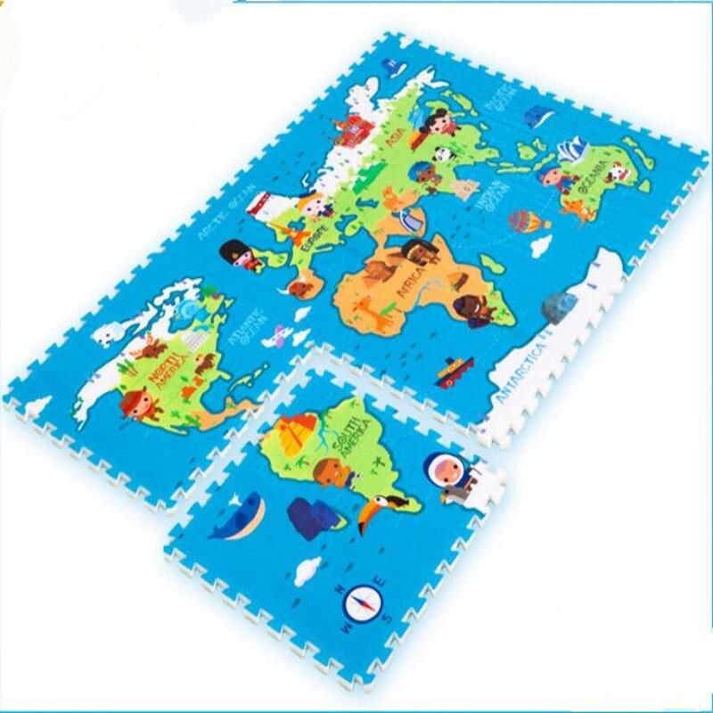 World map foam puzzle mat world map jigsaw puzzle kiyobaby 3d aliexpress 6pcs set baby puzzle mat carpet gym play mat 60 60 2cm cartoon world map printing foam sciox Image collections