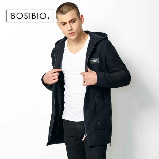 Men Trench Male Casual Long...