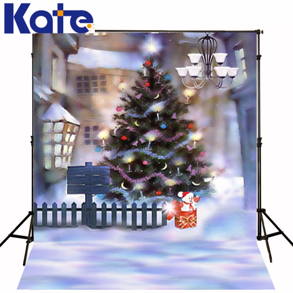 Kate Christmas Photography Backdrops With Snowman Christmas Tree Outdoor Kids Backdrops For Children Backrounds Photo Studio