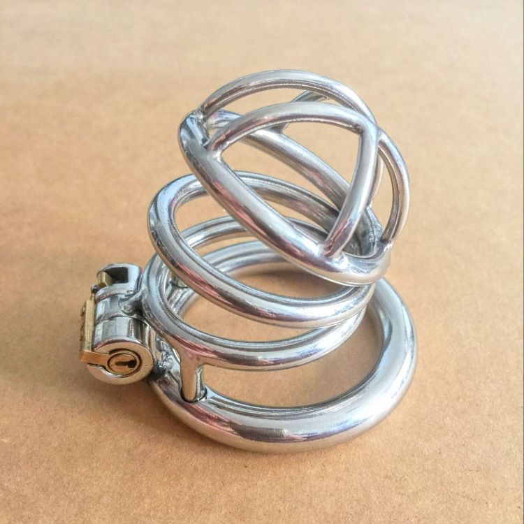 Sex Tools Shop New Stainless Steel Male Chastity Belt Device Sex Cock Cage Penis lock Cock Ring Adult Games Belt Chastity toys.