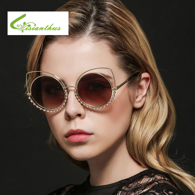 92449311111 Newest Cat Eye Sunglasses Women Brand Designer Metal Rhinestone Frame Sun  Glasses Mirror Sunglasses Women Luxury