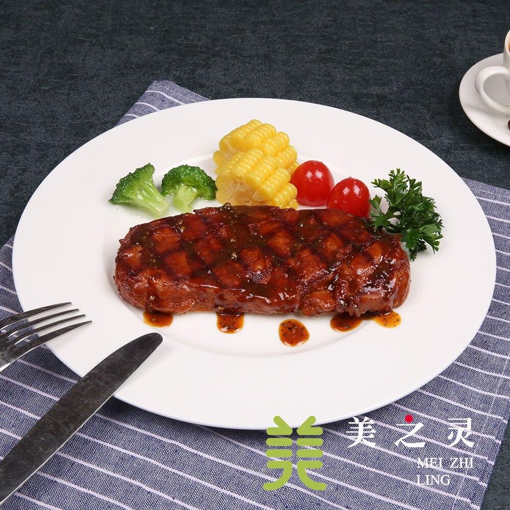 Modèle de Steak simulé afficher des plats d'échantillon dans le Restaurant occidental simulé Salon Steak modèle Restaurant décoration