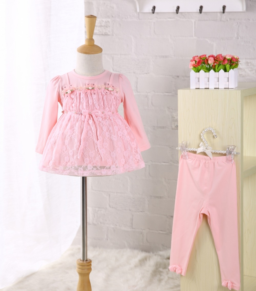 0eed7c954 Top Quality Baby Girl Dress Autumn 1 Year Birthday Wedding Party Clothes  Dresse with Pants 2pcs/set Baby Girl Christening Gowns