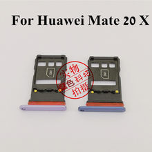 Original SIM Holder Sim Tray For Huawei Mate 20 X EVR-AL00 SIM /SD Card Reader Nano Micro Card booth case Replacement parts(China)