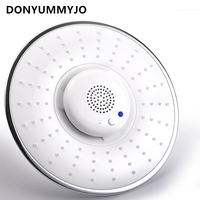 1pc Creative Home Music Shower Top Spray Shower Head Built in Bluetooth Can Call Music Phone Nozzle