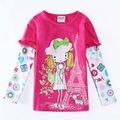 Do bebé t menina camiseta de manga comprida t camisa dos desenhos animados menina camiseta crianças veste crianças marca de roupas roupa infantil F5628