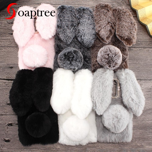 Rabbit Fur Cases For ZTE Blade A910 A610 A602 A601 A530 A606 A522 A520 A511 A515 A510 A330 A310 A462 Plus BV0730 BA910 Case Bags-in Fitted Cases from Cellphones & Telecommunications