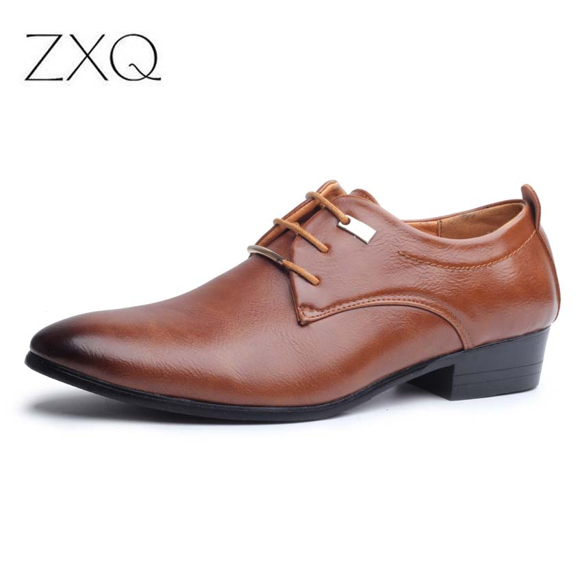 Mens Patent Leather British Pointed Toe Lace Up Business Formal Wedding Shoes
