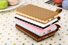 Cookies Biscuit Design external Power Bank 8000mAh USB Mobile Power Battery Charger For iPhone For Samsung