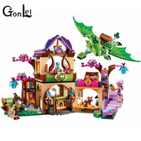 GonLeI Bela 10504 Elves Secret Place Parenting Activity Education Model Building Blocks Compatible With Gift