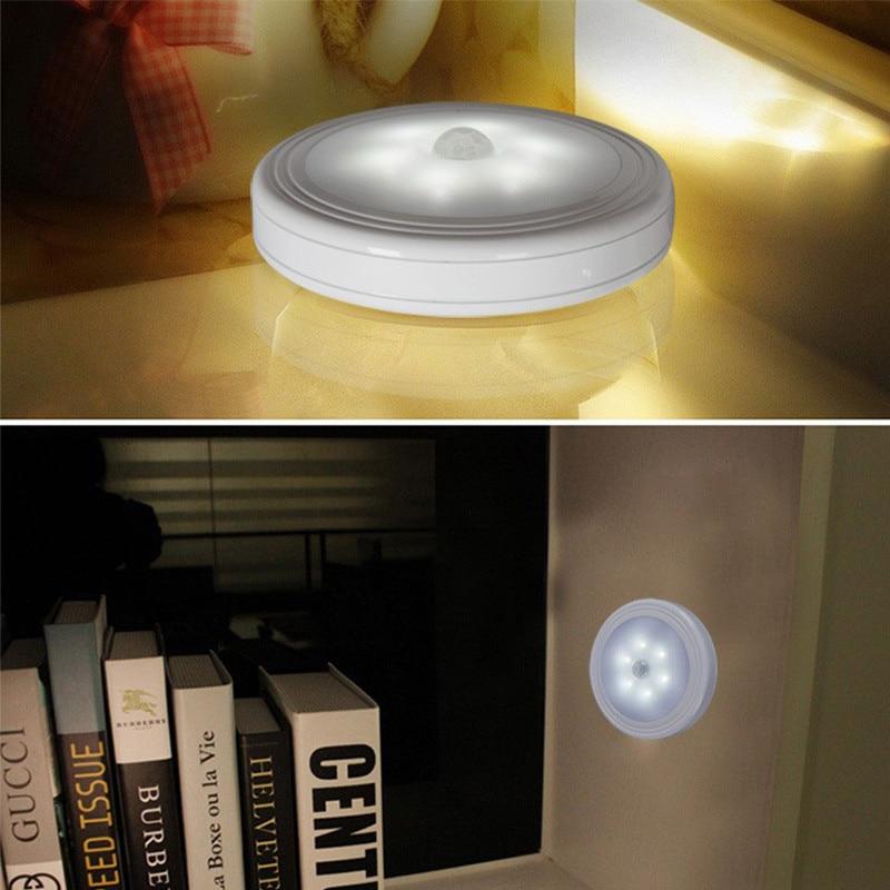 Infrared PIR Motion Sensor 6 Led Night Light Wireless Detector Light Wall Lamp Light Auto On/Off Closet Battery Powered