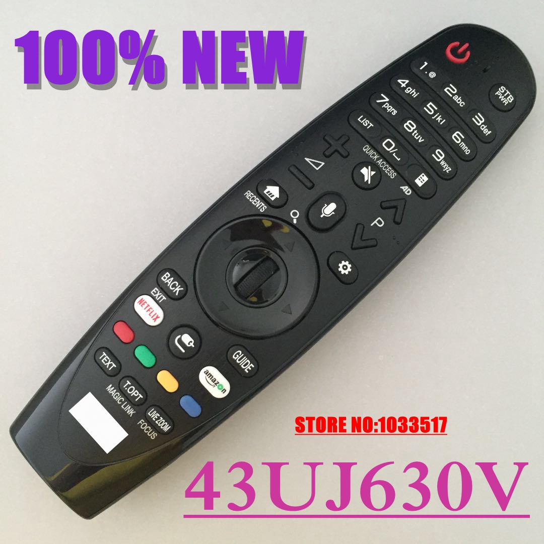 100 New Original Magic Remote Control for LG 43uj630v English version