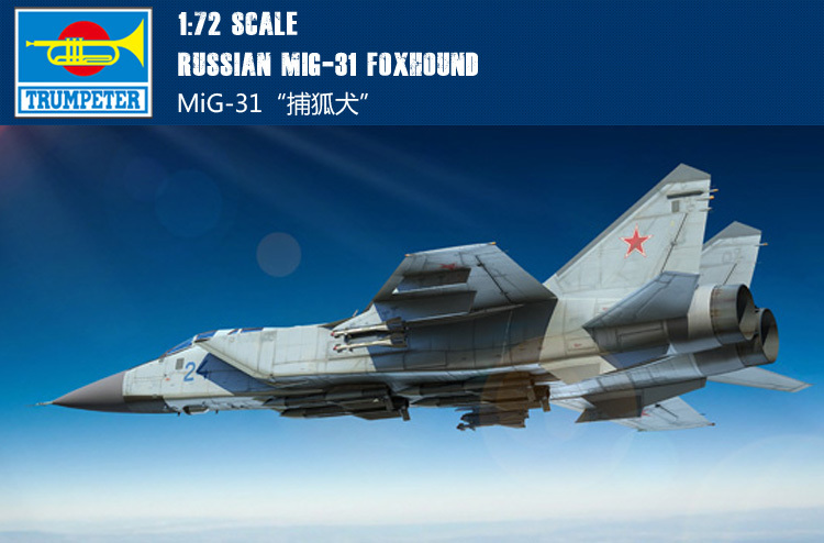 Trumpet 01679 1:72 The Russian MIG -31 Foxhound Interceptor Assembly Model Building Kits Toy