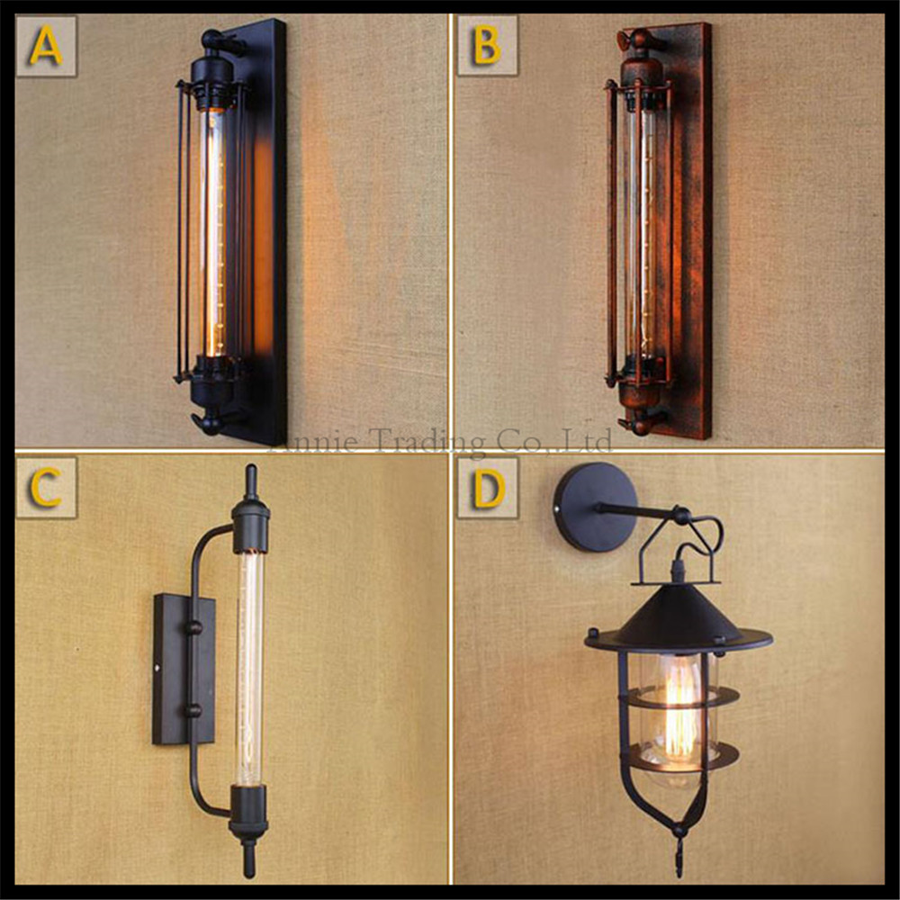 ФОТО AC110V 220v steampunk T30 Edison bulb lamps Art Deco Vintage Wall sconces lamp home lighting decorative wall light sconces luz