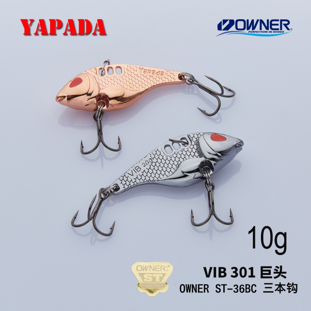 YAPADA VIB 301 Tycoon 10g / 15g OWNER Treble Krog 41-47mm Feather Multicolor Zinklegering Metal VIB Fishing Lures