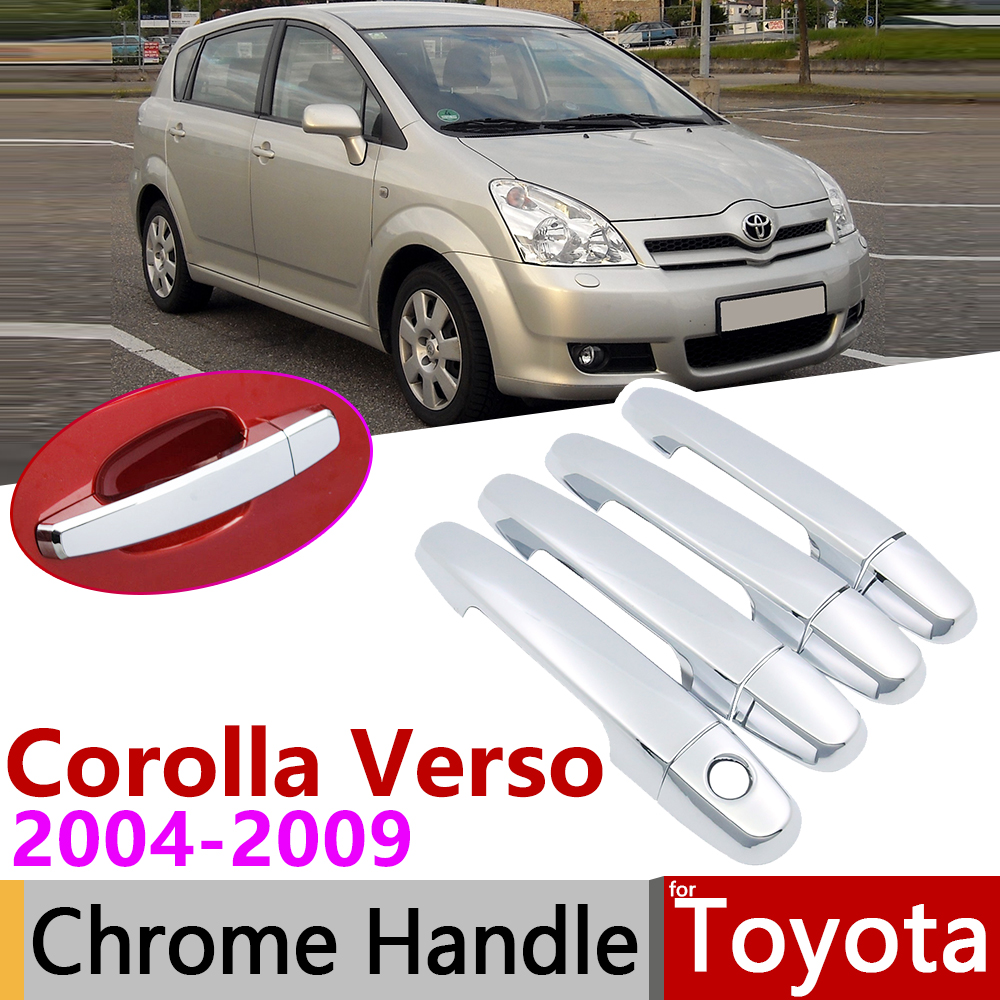 for Toyota Corolla Verso AR10 2004~2009 Chrome Door Handle Cover Car Accessories...