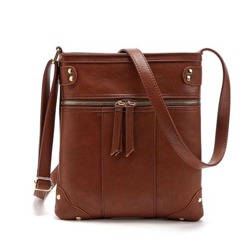 21 marca clube pequeno zíper casual cor sólida simples carteira feminina de viagem de compras aleta ombro crossbody messenger bags
