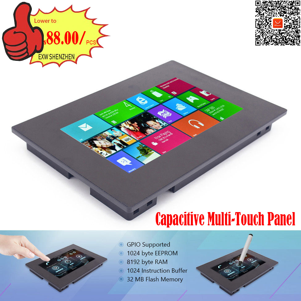 7.0 Nextion Enhanced HMI Intelligent Smart USART UART Serial TFT LCD Module Display Capacitive Multi Touch Panel w/ Enclosure