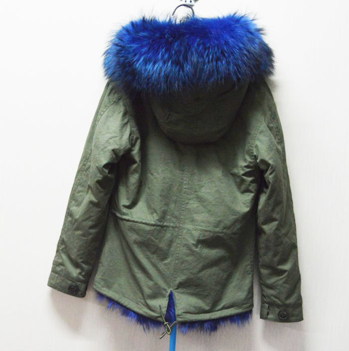 New fashion Warm Women Winter Outerwear blue Ladies real fox Fur ...