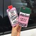 """2016 de lujo amor poción botella de pastillas frío teléfono case para para iphone 7 6 6 s 4.7 """"7 más 6 más 6 s + soft funda de silicona 3d para fundas"""