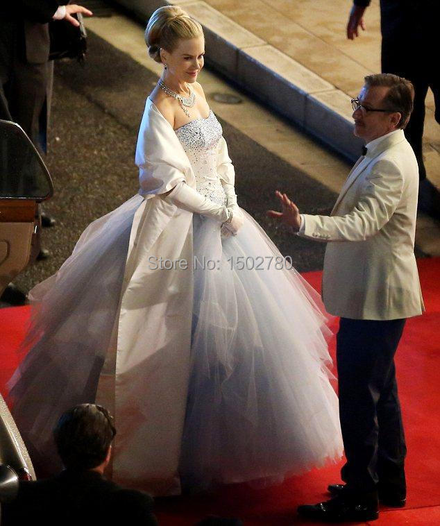 luxury grace of monaco nicole kidman bridal gown crystals strapless