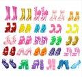 10 Pairs Красочные Ассорти Каблуки Сандалии Обувь Для Куклы Барби С Разными Стилями Моды Игрушка Девушки Подарок игрушки для девочек