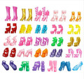 10Pairs Colorful Assorted Heels Sandals Shoes For Barbie Doll With Different Styles Fashion Toy Girls Gift toys for girls