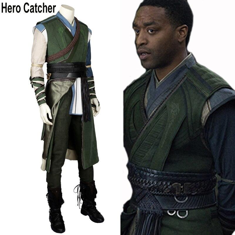 Герой Catcher Высокое качество Доктор Стрэндж Косплэй костюм для взрослых Baron mordo костюм целый набор с Обувь
