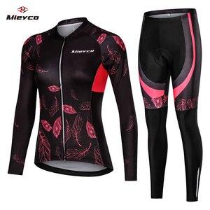 Image 1 - Vrouwen Wielertrui Mtb Fiets Kleren Vrouwelijke Ciclismo Lange Mouwen Racefiets Kleding Riding Shirt Team Jersey Custom Design