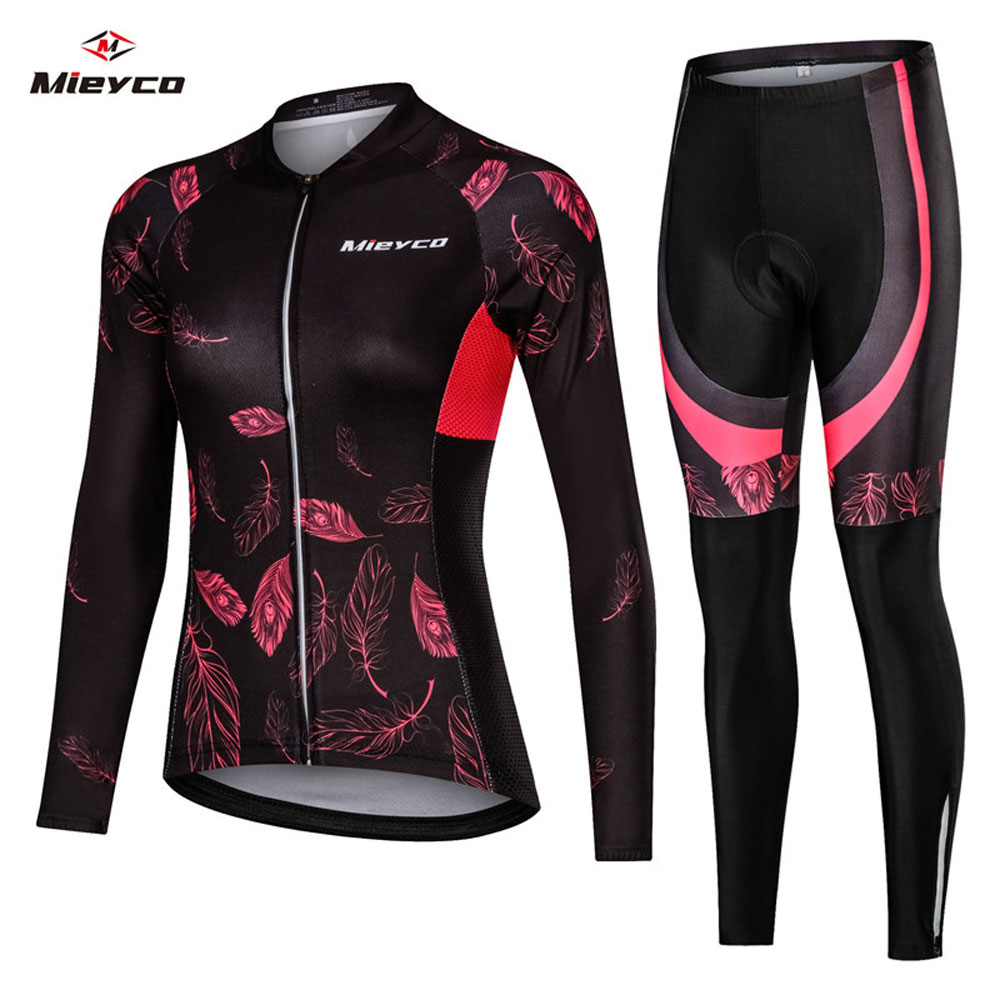Women Cycling Jersey Mtb Bicycle Clothes Female Ciclismo Long Sleeves Road Bike Clothing Riding Shirt Team Jersey Custom Design-in Cycling Sets from Sports & Entertainment