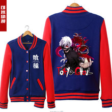 Contrast Color Men Women Anime Coat Cool Harajuku Winter Baseball Jackets Kaneki Tokyo Ghoul Hoody