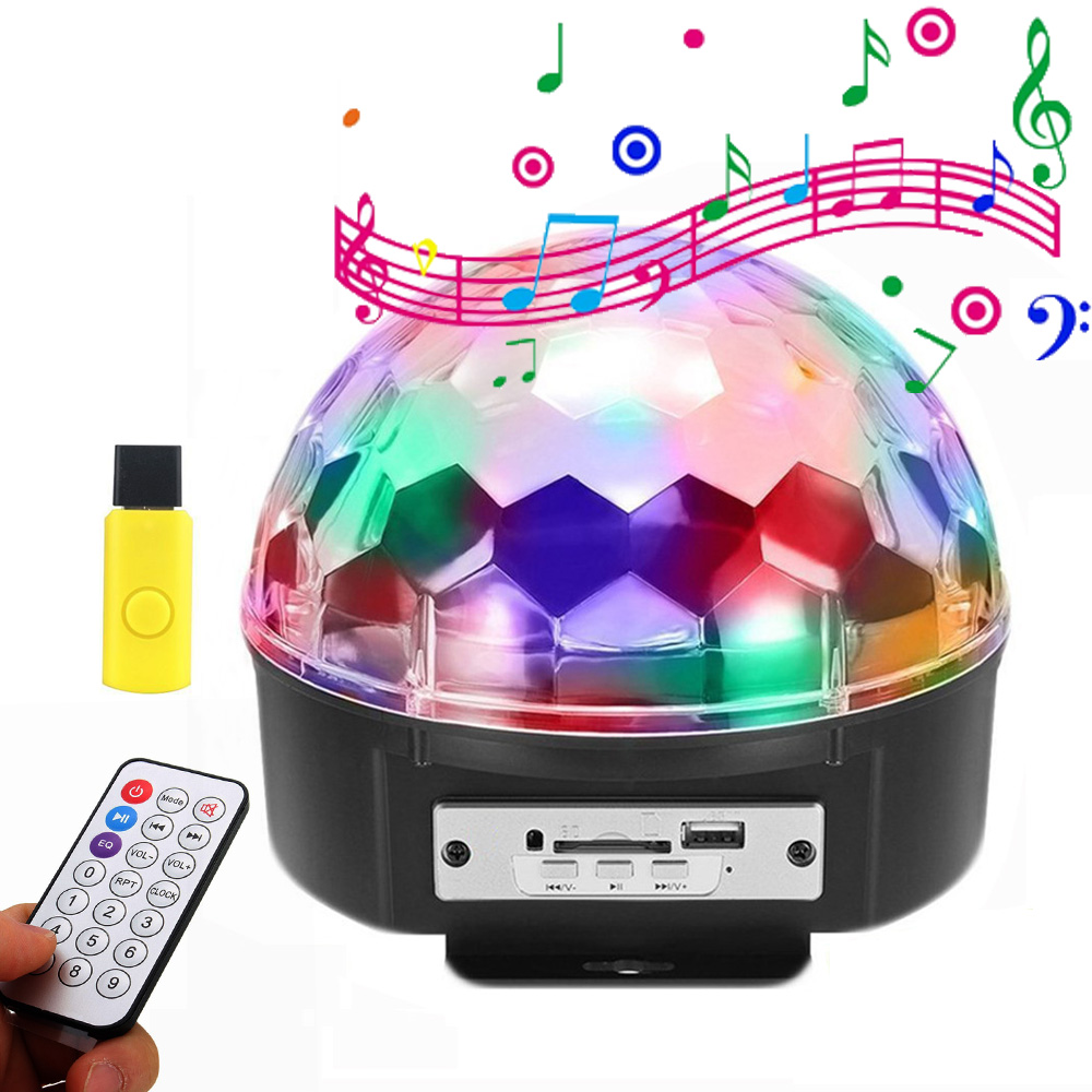 BEIAIDI MP3 LED Stage Lamp For DJ Club Disco Party Voice Control LED Stage Laser Light RGB Xmas Spot Light With USB Disk+Remote rg mini 3 lens 24 patterns led laser projector stage lighting effect 3w blue for dj disco party club laser