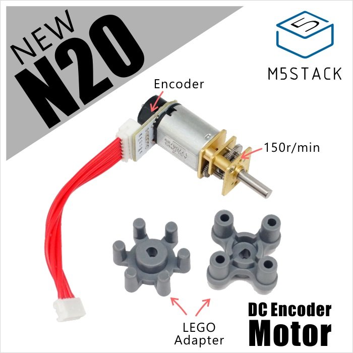 M5Stack New Micro N20 Electric Gear Box DC Encoder Motor With Gearwheel For M5BALA Mini Balance Car Module 150r/min