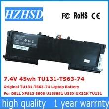 7,4 V 45wh TU131-TS63-74 TU131-TS63-74 ноутбук Батарея для DELL XPS13 8808 U13S881 U33X UX32K TU131