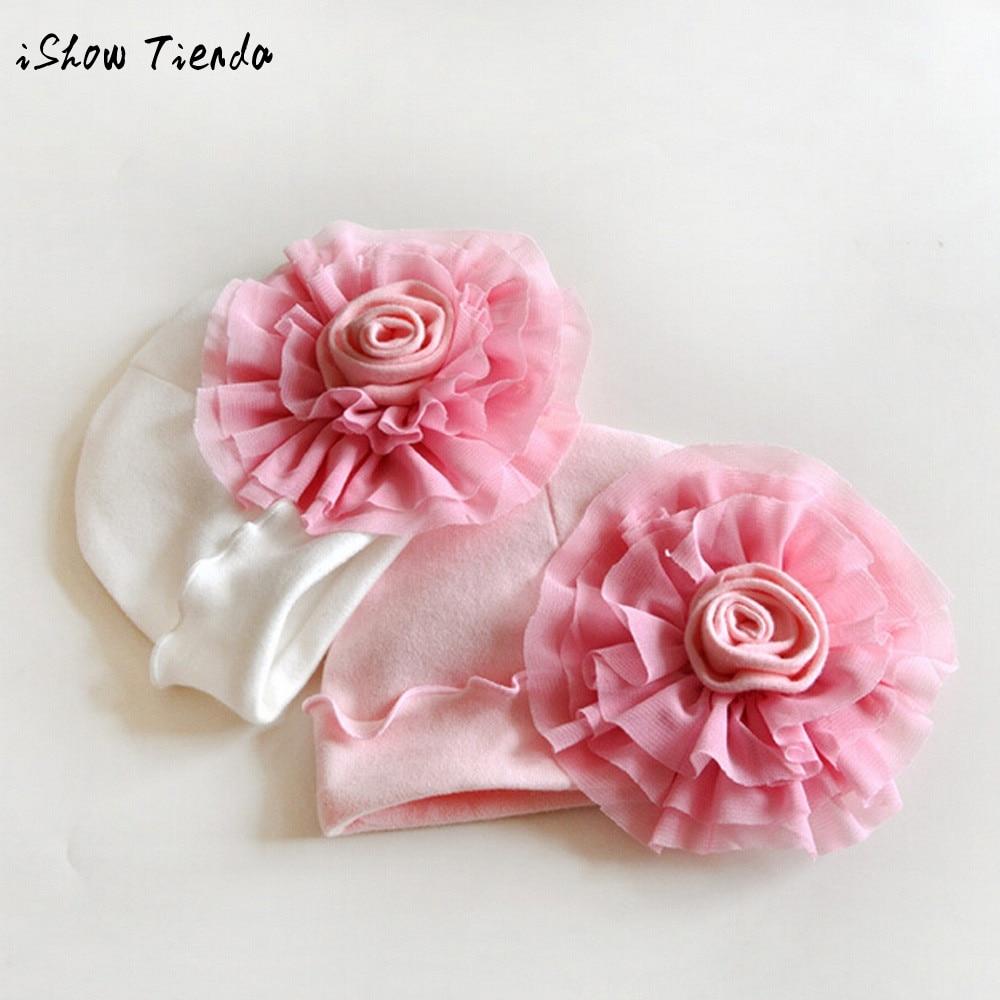 2017 A popular HOT sale item Newborn Baby Girls Infantil Toddler Flower Hat Cotton Soft Beanie Hat Cap bomabino ragazza cappelli